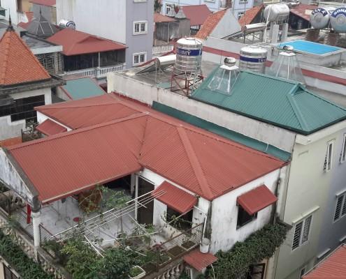 Ảnh thi công mái tôn tại  Hoàng Quốc Việt