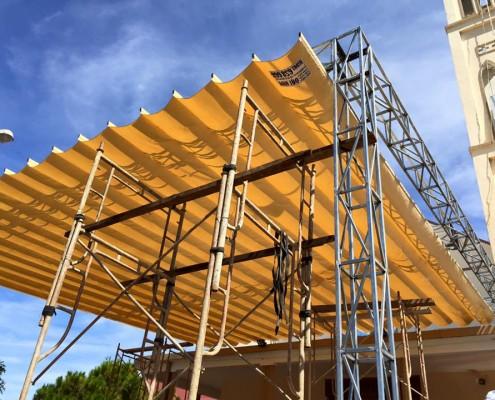 mái xếp di động cho cửa hàng tại Lào Cai