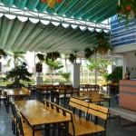 Những mẫu mái xếp cho quán cafe đẹp 2017