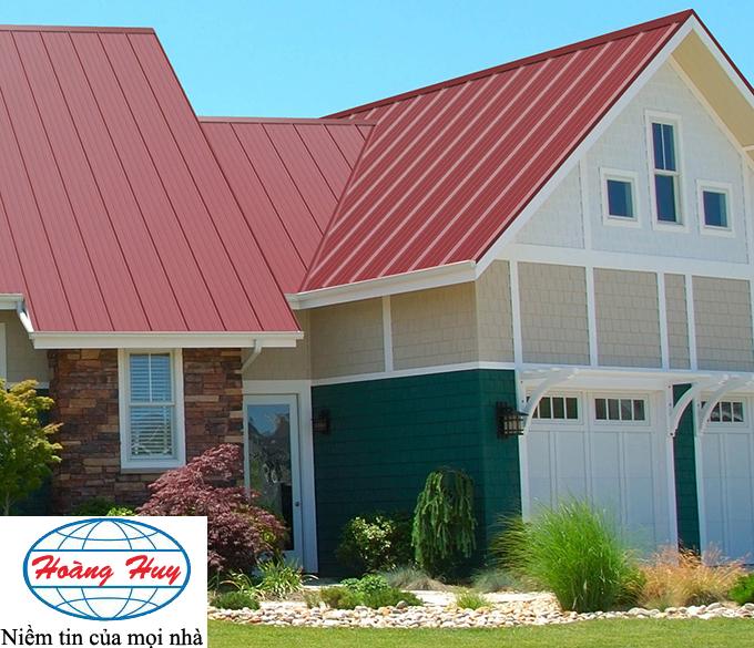 Nhà hoàn thiện sau khi làm mái tôn lạnh